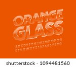 vector transparent orange glass ... | Shutterstock .eps vector #1094481560
