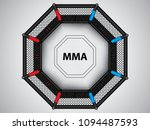 vector illustration of mma cage.... | Shutterstock .eps vector #1094487593