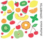colorful bright fruits are... | Shutterstock .eps vector #1094489726
