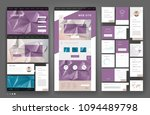 website template design with... | Shutterstock .eps vector #1094489798