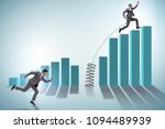 business people jumping over... | Shutterstock . vector #1094489939