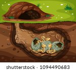 a snake living under the hole... | Shutterstock .eps vector #1094490683