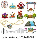 a set of theme park element ... | Shutterstock .eps vector #1094490689