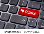 A dislike message on enter keyboard for anti social media concepts. - stock photo