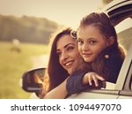 happy traveling smiling mother... | Shutterstock . vector #1094497070