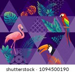 vector seamless pattern with... | Shutterstock .eps vector #1094500190