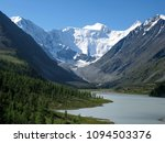 snow capped peaks and mountain... | Shutterstock . vector #1094503376