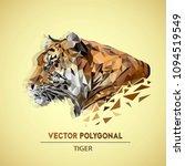 vector polygonal tiger head.... | Shutterstock .eps vector #1094519549
