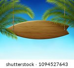 clean wooden surfboard... | Shutterstock .eps vector #1094527643