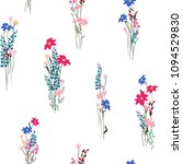 vector floral seamless pattern... | Shutterstock .eps vector #1094529830