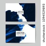 set of vector business card...   Shutterstock .eps vector #1094529893
