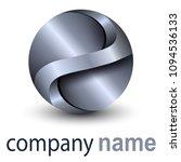 logo business 3d sphere  silver ... | Shutterstock .eps vector #1094536133
