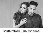 fashion portrait of a beautiful ...   Shutterstock . vector #1094546366