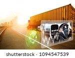 vehicle running self driving... | Shutterstock . vector #1094547539
