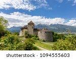 vaduz castle in the... | Shutterstock . vector #1094555603