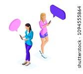 isometry of young girls ...   Shutterstock .eps vector #1094555864