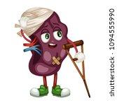 cartoon illustration of a sad... | Shutterstock .eps vector #1094555990