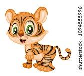 vector illustration of a happy... | Shutterstock .eps vector #1094555996