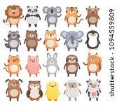 big set of cute smiling animals....   Shutterstock .eps vector #1094559809