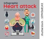 heart attack risk factors... | Shutterstock .eps vector #1094568143