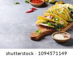 variety of vegetarian corn... | Shutterstock . vector #1094571149