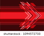 abstract red speed arrow... | Shutterstock .eps vector #1094572733