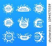 yogurt splash silhouette  drink ... | Shutterstock .eps vector #1094575559