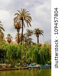 Small photo of palm tree in Bar?elona city