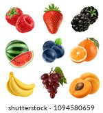 fresh fruit. 3d vector icons... | Shutterstock .eps vector #1094580659
