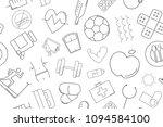 vector health pattern. health... | Shutterstock .eps vector #1094584100