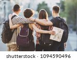 friends traveling  togetherness ... | Shutterstock . vector #1094590496