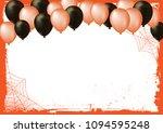 the horizontal blank halloween...   Shutterstock .eps vector #1094595248