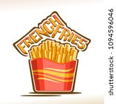 vector logo for french fries ... | Shutterstock .eps vector #1094596046