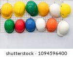 safety helmet hanging | Shutterstock . vector #1094596400