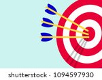 red white target with arrows in ...   Shutterstock .eps vector #1094597930