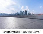 empty floor with city skyline... | Shutterstock . vector #1094598896