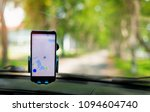 the map on the phone in the... | Shutterstock . vector #1094604740