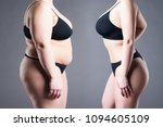 woman's body before and after... | Shutterstock . vector #1094605109