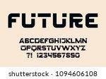 geometric sport font modern... | Shutterstock .eps vector #1094606108