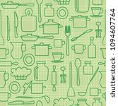 green kitchenware on light...   Shutterstock . vector #1094607764
