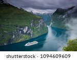 Beautiful landscape in Geiranger, Norway - stock photo