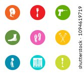 fracture icons set. flat set of ... | Shutterstock .eps vector #1094619719