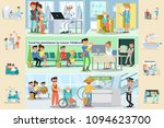cancer disease horizontal... | Shutterstock .eps vector #1094623700