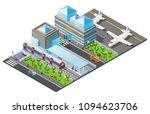 isometric public transport... | Shutterstock .eps vector #1094623706
