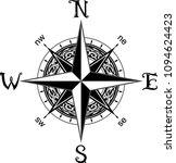 compass tattoo design   Shutterstock .eps vector #1094624423