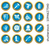 orthopedist bone tools icons... | Shutterstock .eps vector #1094627540