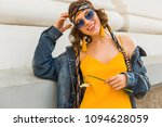 stylish attractive woman in... | Shutterstock . vector #1094628059