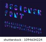 designer font set | Shutterstock .eps vector #1094634224