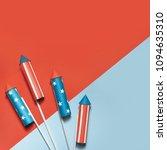 july 4  rockets for fireworks... | Shutterstock . vector #1094635310
