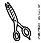 scissors   cartoon vector and... | Shutterstock .eps vector #1094637404